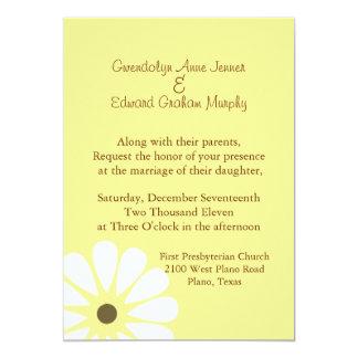 Yellow and White Daisy Wedding Invitation