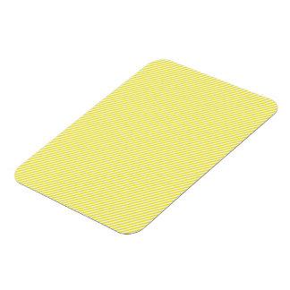 Yellow and White Diagonal Stripes Rectangular Photo Magnet