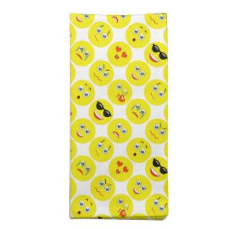 Yellow And White Emoji Pattern Napkin