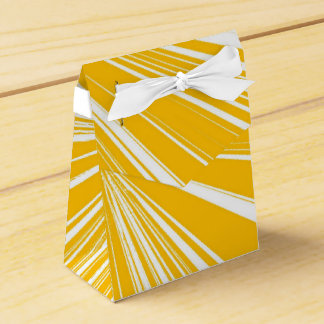 Yellow and White Favour Box