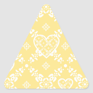 Yellow and white flowers and hearts customizable sticker