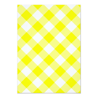 Yellow and White Gingham Card