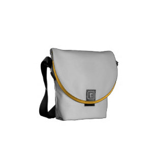Yellow And White Gingham Check Pattern Courier Bags