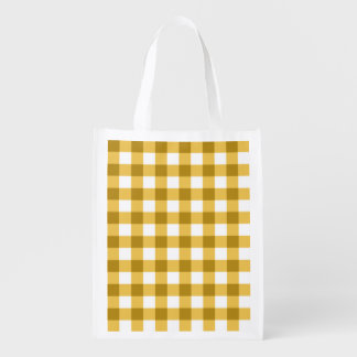 Yellow And White Gingham Check Pattern
