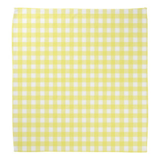 Yellow and White Gingham Design Bandana