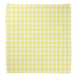 Yellow and White Gingham Design Bandana