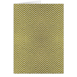 Yellow and White Glitter Zig Zag Greeting Card