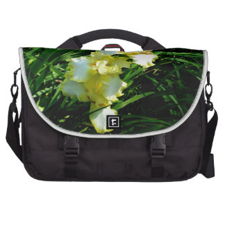 Yellow and White Iris Flower Laptop Commuter Bag