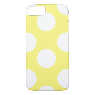 Yellow and White Large Polka Dot Phone Case