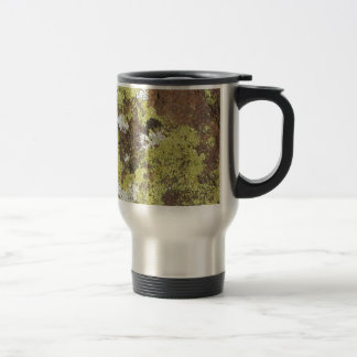Yellow and White Lichen on Sandstone Natural Camo Travel Mug