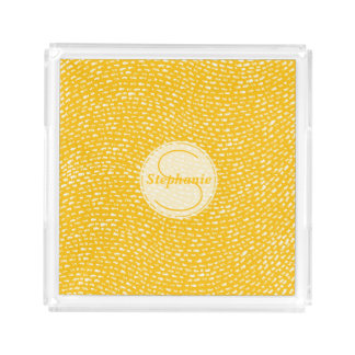 Yellow and white Monogrammed Dash marks
