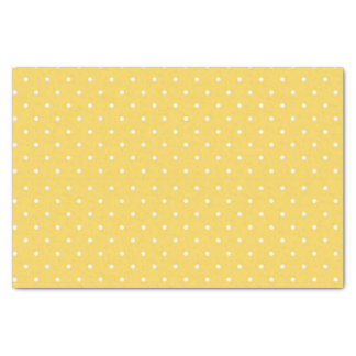 Yellow and White Polka Dot Tissue Paper