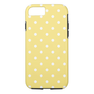 Yellow and White Polka Dots Pattern. iPhone 8/7 Case