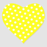 Yellow and White Polka Dots Sticker