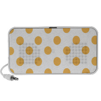 Yellow and White Polkadots PC Speakers