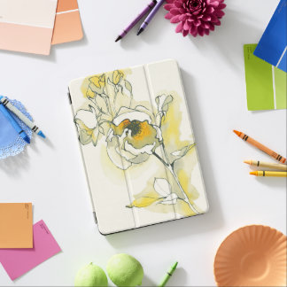 Yellow and White Roses iPad Air Cover