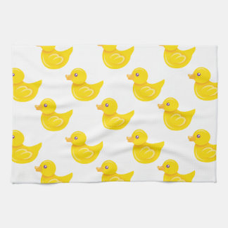 Yellow and White Rubber Duck, Ducky Tea Towel