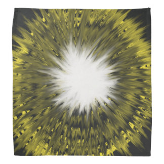 Yellow and White Star Abstract Art Painting Design Bandana