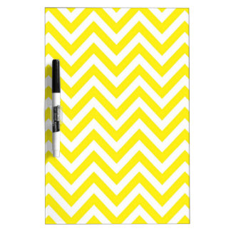 Yellow and White Stripe Zigzag Pattern Dry Erase Boards