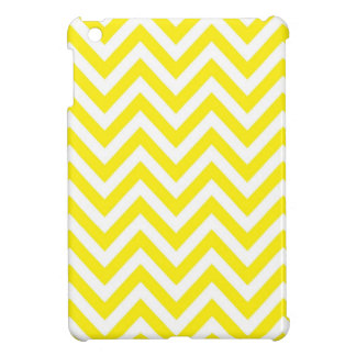 Yellow and White Stripe Zigzag Pattern iPad Mini Cover