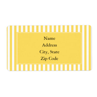 Yellow and White Stripes Pattern