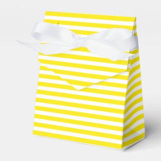 Yellow And White Stripes Wedding Party Wedding Favour Boxes