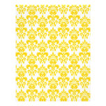 Yellow and White Vintage Damask Pattern 2 Personalised Flyer