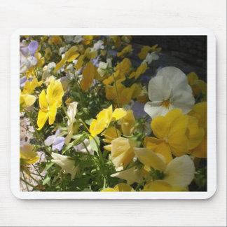 Yellow and White Violas Mousepad