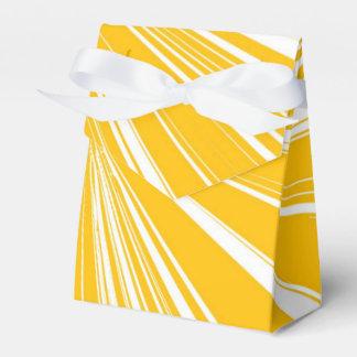 Yellow and White Wedding Favour Box