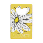 Yellow and White Whimsical Daisy with Custom Text