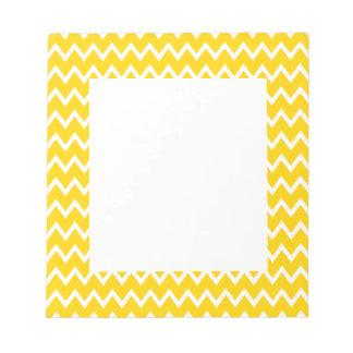 Yellow and White Zigzag Pattern Notepad