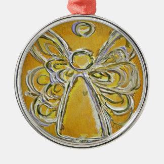 Yellow Angel Art Painting Ornament
