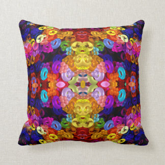 Yellow-Angel-Bug Mandala Cushion