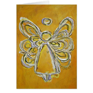 Yellow Angel Greeting Card