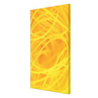 Yellow angel hair pasta canvas print