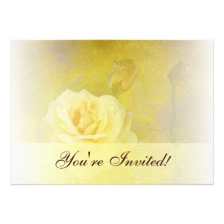 Yellow Antique Rose Invitation