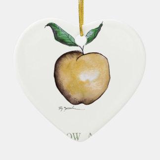 yellow apple, tony fernandes ceramic heart decoration