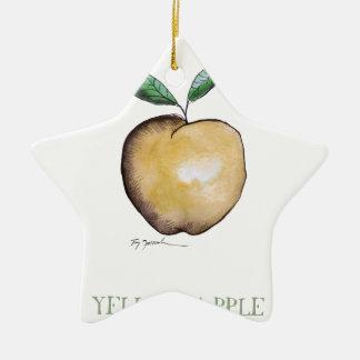 yellow apple, tony fernandes ceramic star decoration
