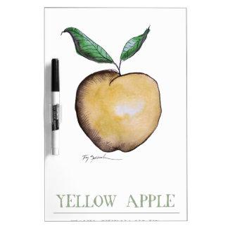yellow apple, tony fernandes dry erase board