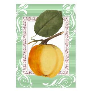 Yellow Apple Vintage Style Cards Pack Of Chubby Business Cards