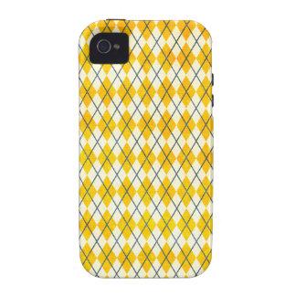 Yellow Argyle Vibe iPhone 4 Case