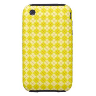 Yellow argyle iPhone 3 tough case