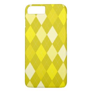 Yellow argyle pattern iPhone 8 plus/7 plus case