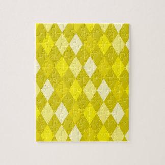 Yellow argyle pattern jigsaw puzzle