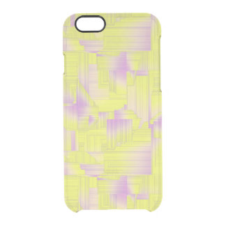 Yellow Art Deco Clear iPhone 6/6S Case