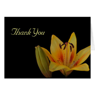 Yellow Asiatic Lily Thank You Card