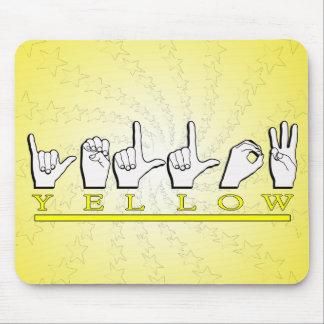 YELLOW  ASL FINGERSPELLED MOUSEPADS