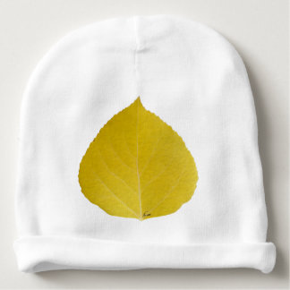 Yellow Aspen Leaf #5 Baby Beanie
