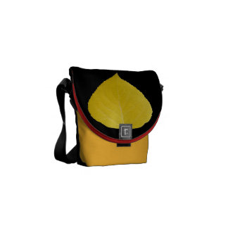 Yellow Aspen Leaf #5 Courier Bags