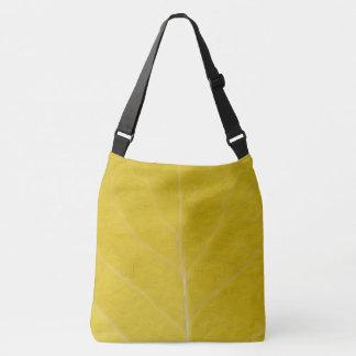 Yellow Aspen Leaf #5 Crossbody Bag